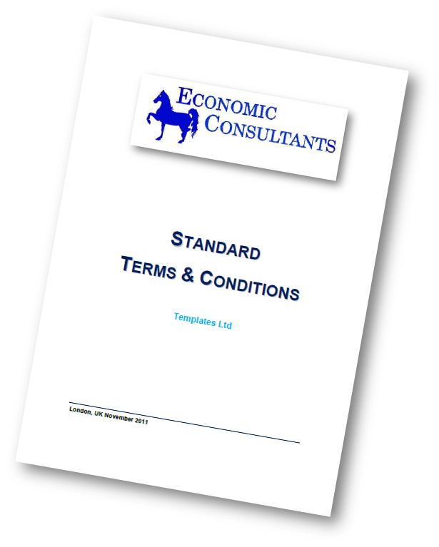 consulting terms and conditions template - ec t s economic consultants