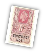 Contract note Stamp