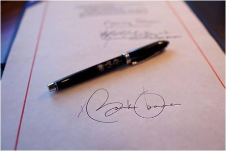 Pencil and Signature